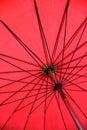 Red umbrella closeup under Stock Photos