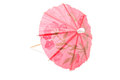 Red umbrella for icecream and cocktail Royalty Free Stock Image