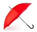 Red umbrella on white background Stock Photos