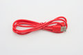 Red USB Cable Plug Royalty Free Stock Photo