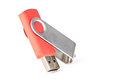 Red usb memory stick Stock Image