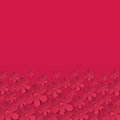 Red valentine background with many flowers vecto vector illustration Royalty Free Stock Images