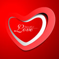 Red Valentine Heart. Royalty Free Stock Images