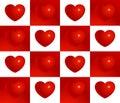 Red valentine heart seamless vector pattern