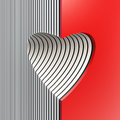Red valentine heart symbolic d render Royalty Free Stock Photography