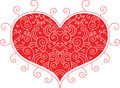 Red valentine heart for your design Royalty Free Stock Image