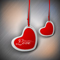 Red Valentine Hearts. Royalty Free Stock Photo