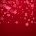 Red Valentine holiday background with circles Royalty Free Stock Photo