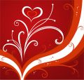 Red valentines background Stock Images