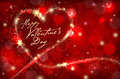 Red Valentines day background with abstract sparkle heart Royalty Free Stock Photo