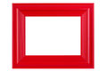 Red varnished picture frame wooden isolated Royalty Free Stock Photo