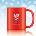 Red vector coffee mug