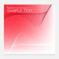 Red vector set waves abstract background Royalty Free Stock Photo