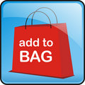 Red Vector Shopping Bag Button Royalty Free Stock Photography