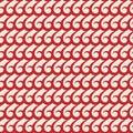 Red vector swirls seamless pattern