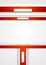 Red vector tech abstract background Royalty Free Stock Photo