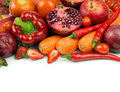 Red vegetable and fruit Royalty Free Stock Photo