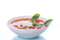 Red vegetable soup with beetroot Royalty Free Stock Photo