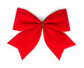Red velvet bow. Royalty Free Stock Photo