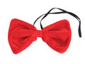 Red velvet bow tie isolated on the white Royalty Free Stock Images