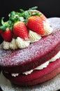 Zamat tortu ozdobený čerstvý