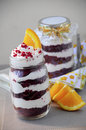 Red Velvet Cake in jar 03 Royalty Free Stock Photo