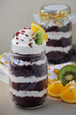 Red Velvet Cake in jar 08 Royalty Free Stock Photo