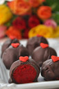 Red Velvet Cake Pops Stock Images