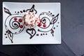 Red velvet cupcake decorate Royalty Free Stock Photo