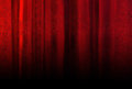 Red velvet curtain with texture Royalty Free Stock Photo