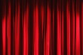 Red velvet drapes curtain Royalty Free Stock Photo