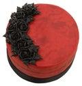 Red Velvet Goth Cake Royalty Free Stock Image