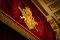 Red velvet scene curtain in theater la scala milan italy Royalty Free Stock Images