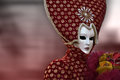 Red Venetian Carnival mask in Venice, Italy Royalty Free Stock Photo