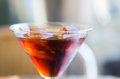 Red vermouth a glass of Royalty Free Stock Photo