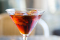 Red vermouth a glass of Stock Photography