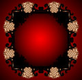 Red vintage frame design for greeting card eps Stock Photography