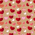 Red Vintage Love Valentin's Day Seamless Pattern Stock Photography