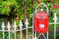 Red vintage mailbox Royalty Free Stock Photo