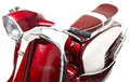 Red vintage motor scooter Royalty Free Stock Photo
