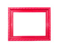 Red Vintage picture frame on white background Royalty Free Stock Photo