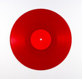 Red Vinyl Record Album Royalty Free Stock Photo