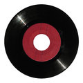 Red vinyl record Royalty Free Stock Photo