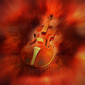 Red violin Stock Photography