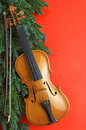 Red Violin Royalty Free Stock Photography