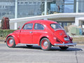 Red of Volkswagen beetle Royalty Free Stock Photo