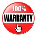 Red Warranty Button Stock Photo