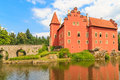 Red water chateau cervena lhota in southern bohemia czech republic Royalty Free Stock Photo
