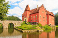 Red water chateau cervena lhota in southern bohemia czech republic Royalty Free Stock Images