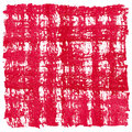 Red watercolor square crosshatched frame border abstract artistic cross hatched background Royalty Free Stock Photo